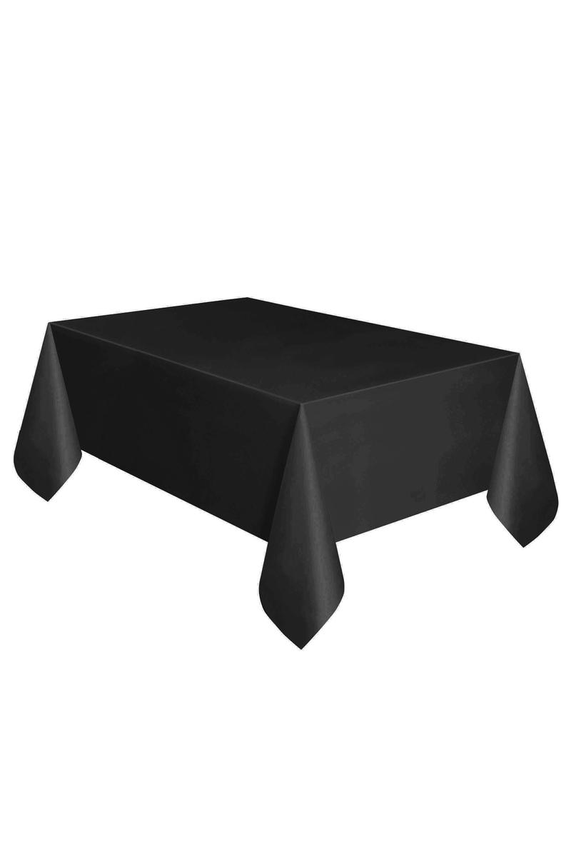Roll-Up Plastik Masa Örtüsü Siyah 137 x 270cm 1 Adet