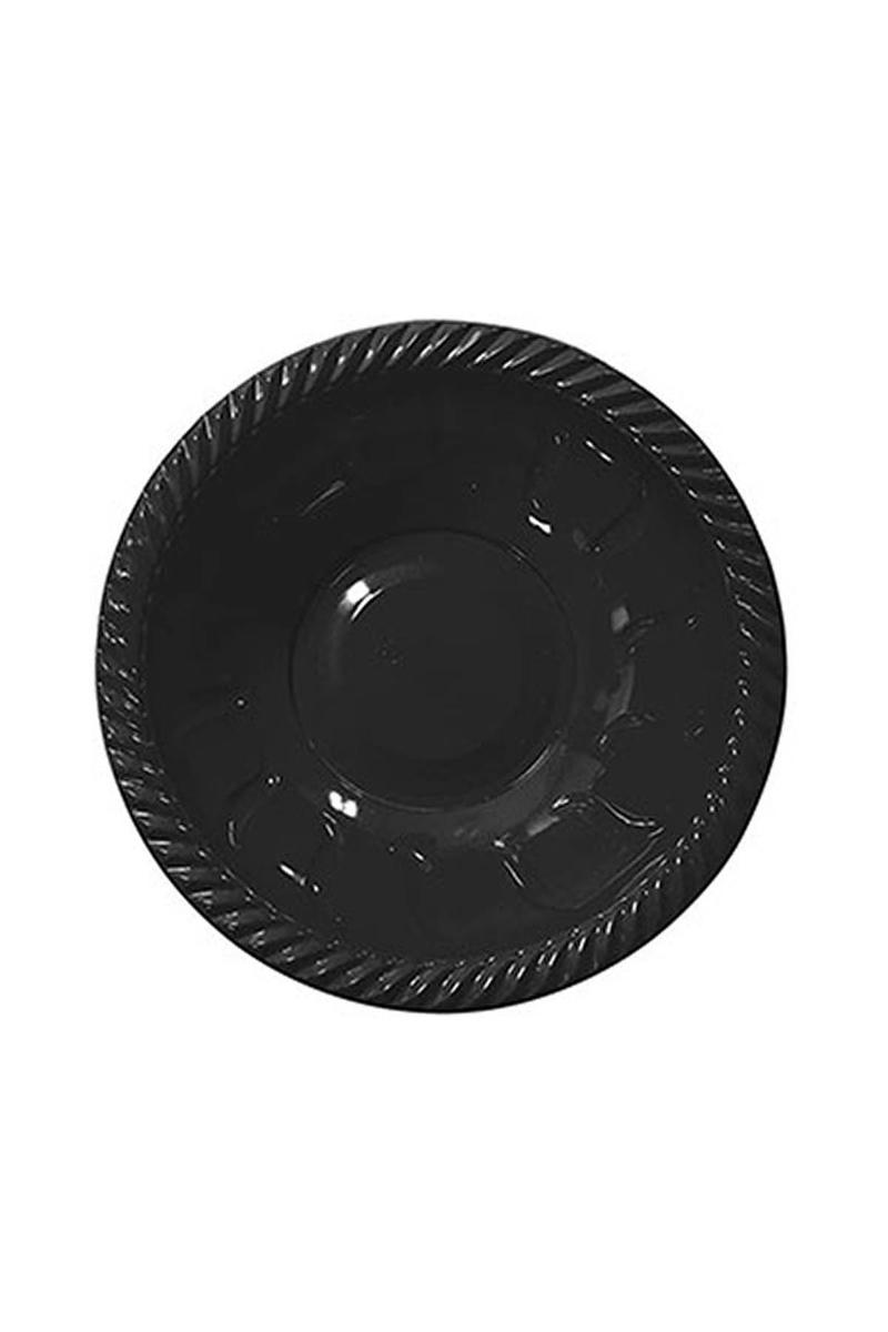 Roll-Up Plastik Yuvarlak Kase Siyah 22cm 6lı