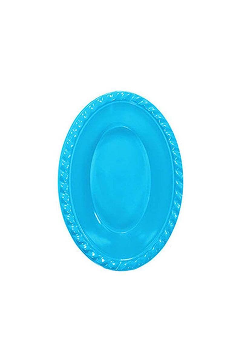 Roll-Up Plastik Oval Kase Turkuaz 12 x 17cm 8li