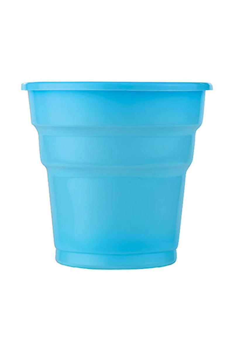 Roll-Up Plastik Meşrubat Bardağı Turkuaz 180cc-7oz 10lu
