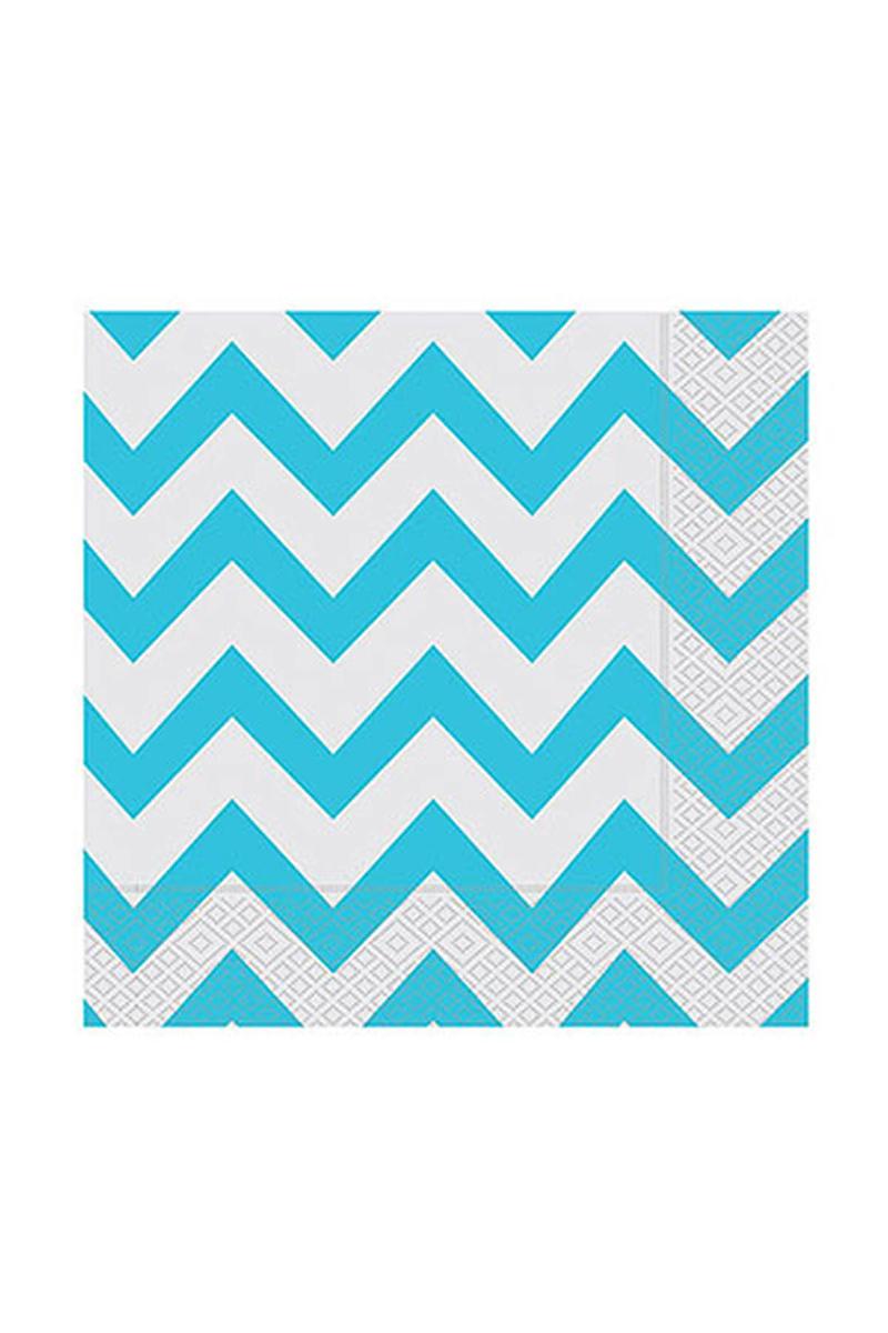 Roll-Up Kağıt Peçete Turkuaz Zigzag 33 x 33cm 20li