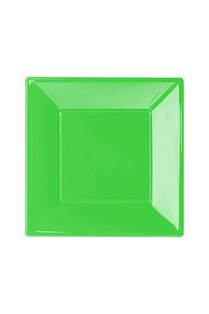 Roll-Up Plastik Kare Tabak Yeşil 23cm 8li