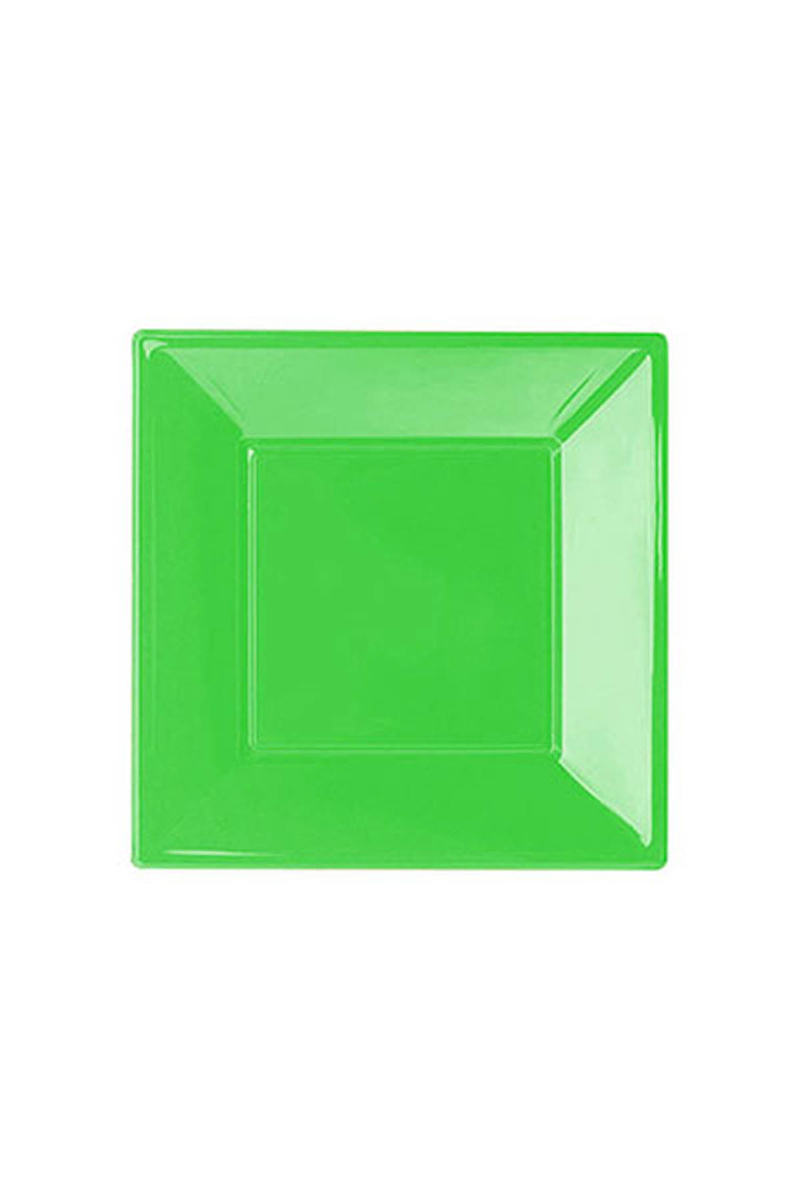 Roll-Up Plastik Kare Tabak Yeşil 17cm 8li