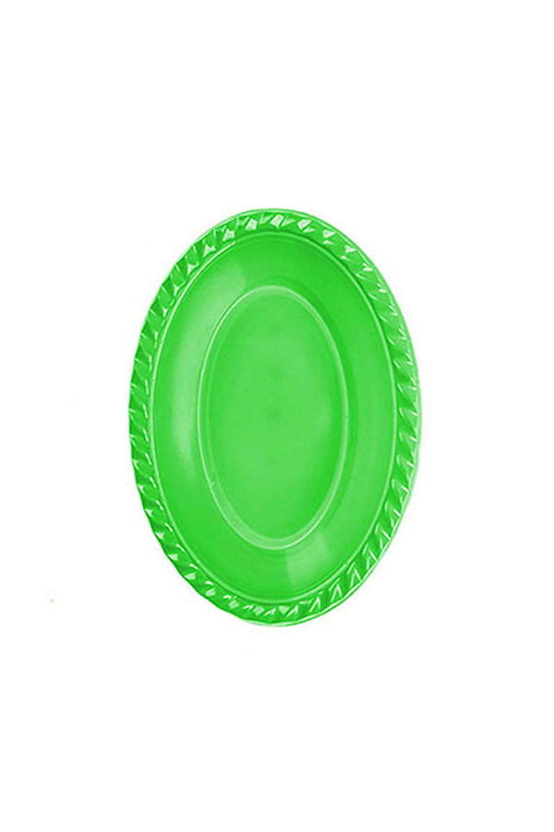 Roll-Up Plastik Oval Kase Yeşil 12 x 17cm 8li