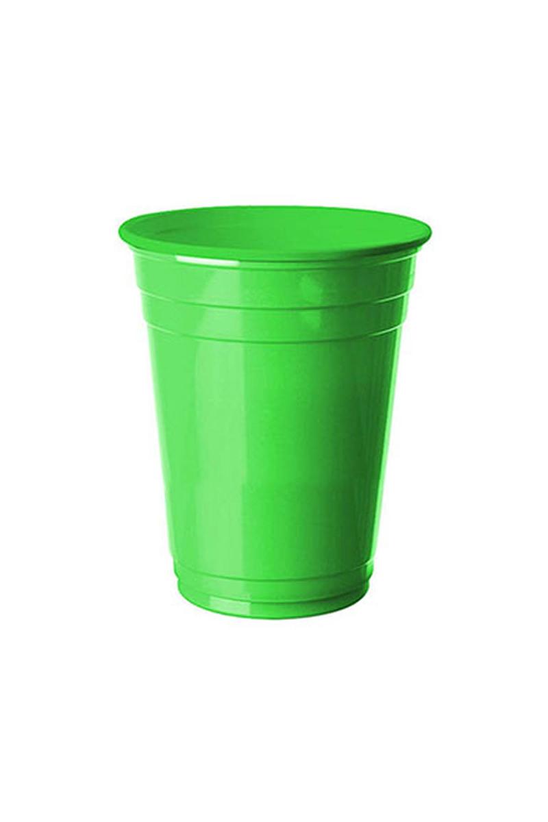 Roll-Up Plastik Meşrubat Bardağı Yeşil 266cc-9oz 8li