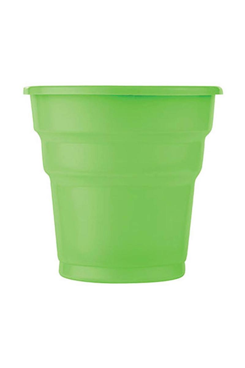 Roll-Up Plastik Meşrubat Bardağı Yeşil 180cc-7oz 25li