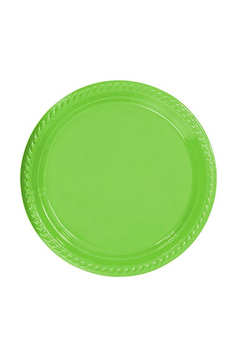 Roll-Up Plastik Tabak Yeşil 26cm 8li