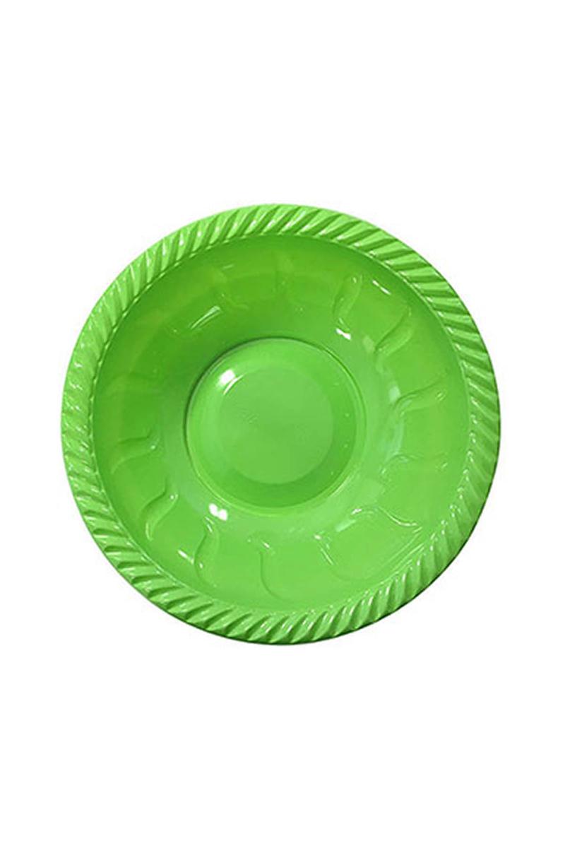 Roll-Up Plastik Yuvarlak Kase Yeşil 22cm 6lı