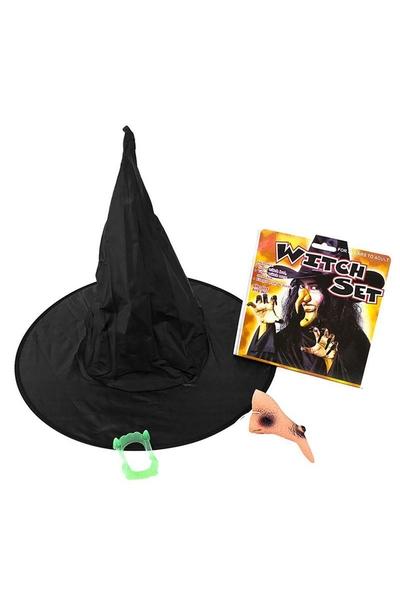 Halloween Cadı Kostüm Seti 1 Adet