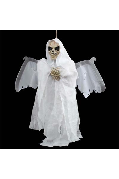 Halloween Kanat Çırpan Kurukafa Beyaz 1 Adet