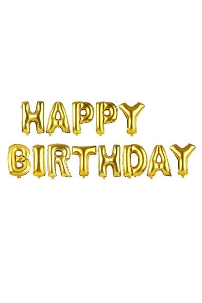Happy Birthday Folyo Balon Altın renk 1 Adet
