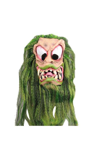 Lateks Yeşil Saçlı Dişli Maske 1 Adet