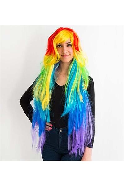 My Little Pony Rainbow Peruk 100cm 1 Adet