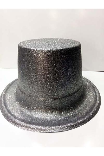 Yılbaşı Simli Parti Şapkası Gümüş Renk 1 Adet