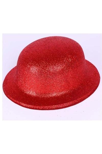 Yılbaşı Simli Parti Şapkası Kırmızı 1 Adet