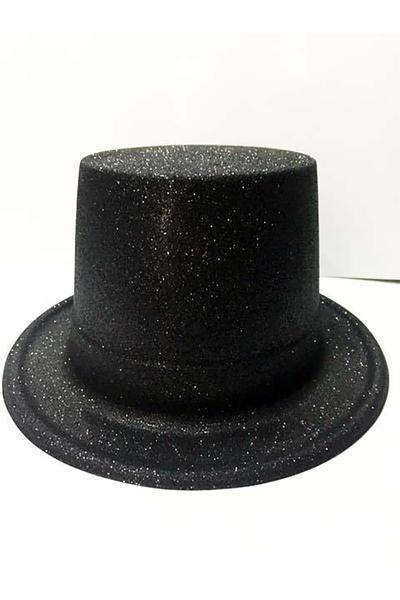 Yılbaşı Simli Parti Şapkası Siyah Renk 1 Adet