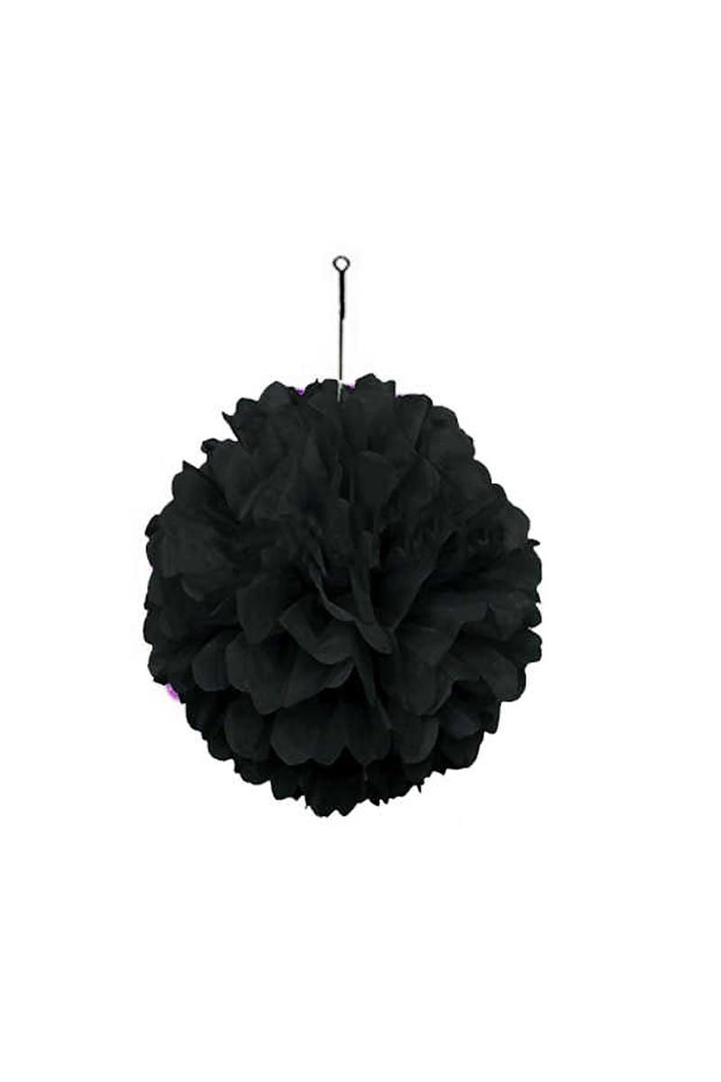 Pelur Kağıttan Süs Ponpon Siyah 35cm x 35cm 1 Adet