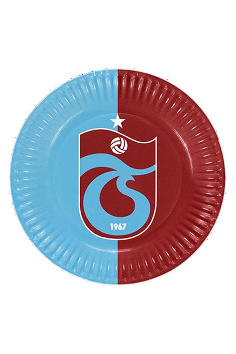 Trabzonspor Kağıt Tabak 23cm 8li