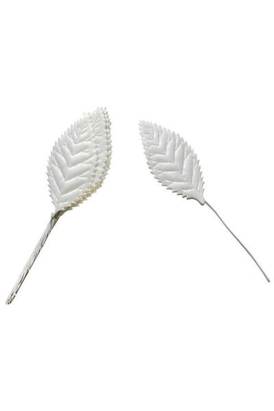 Beyaz Yaprak Dalı 2cmx5cm 144lü