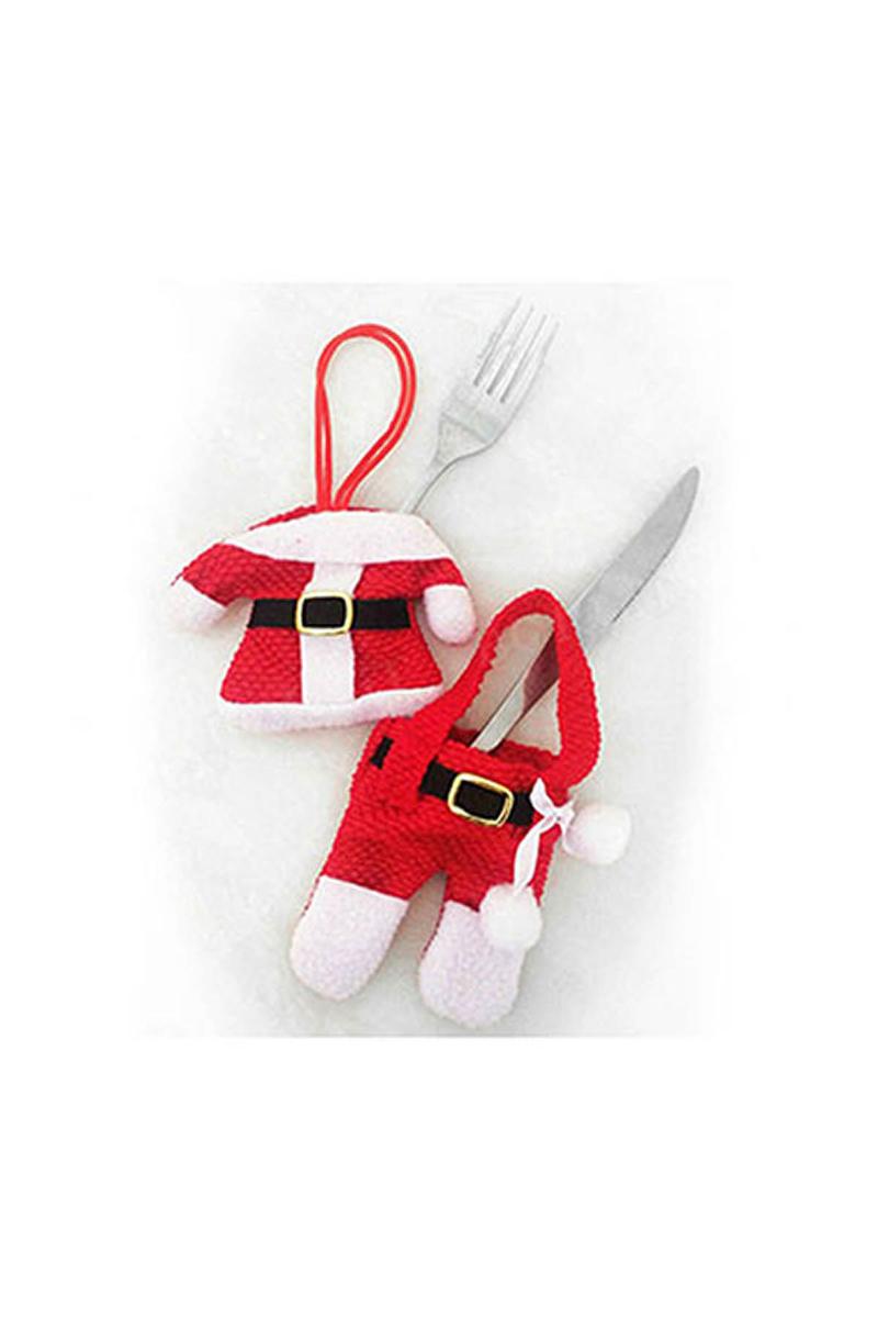 Yılbaşı Noel Elbisesi Çatal Bıçak Kostümü 2 Parça